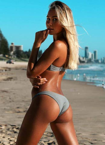 Grey Cheeky Bikini Set