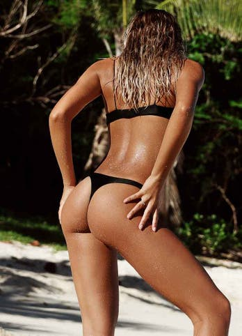 Black Brazilian Thong Bikini Swimwear
