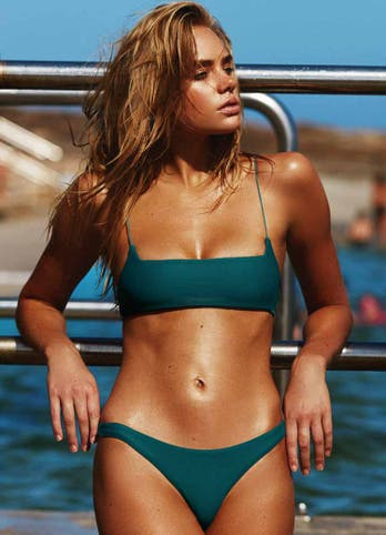 Emerald Crop Top Bikini Swimwear Set