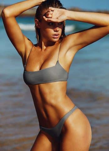Grey Crop Top Bikini