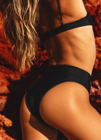 high waisted cheeky bikini bottoms