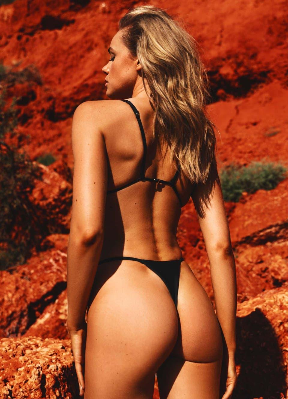 black string thong bikini