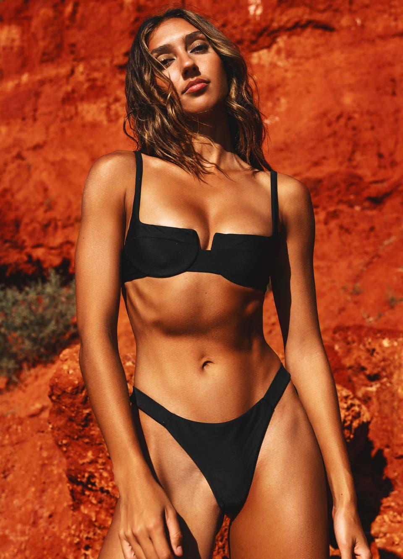 black underwire bikini top