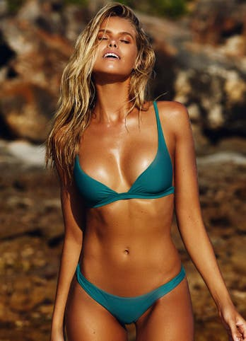 Emerald Green Bralette Bikini Swimwear