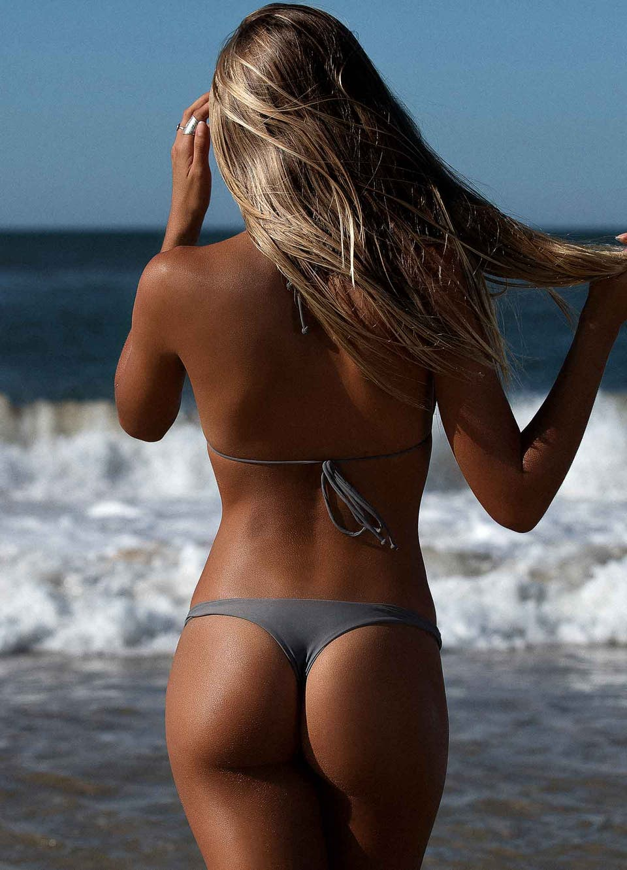 Grey Brazilian Thong Bikini Set