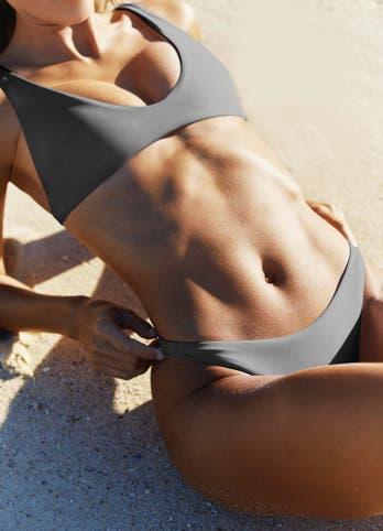 High Rise Bikini Bottoms