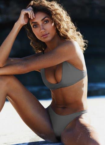 Grey Scoop Bikini