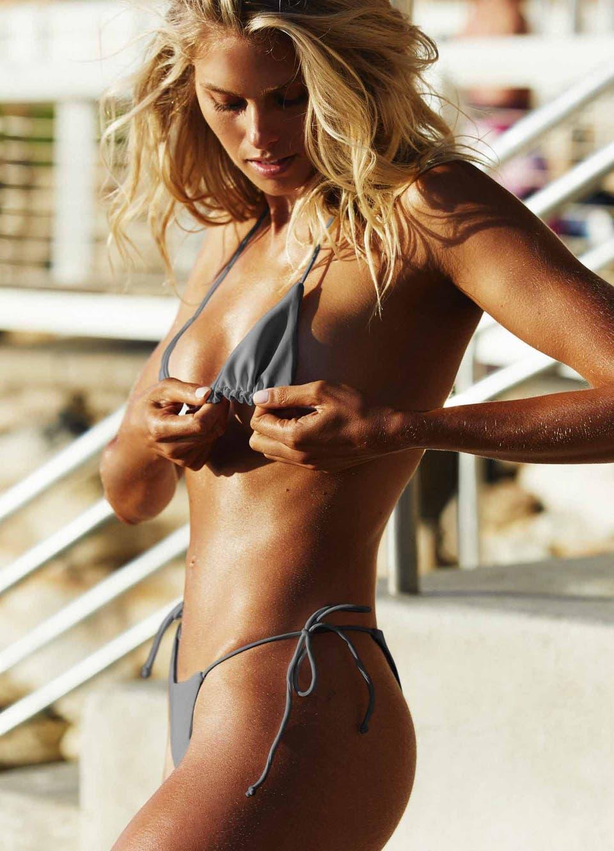 Grey String Tie Side Bikini