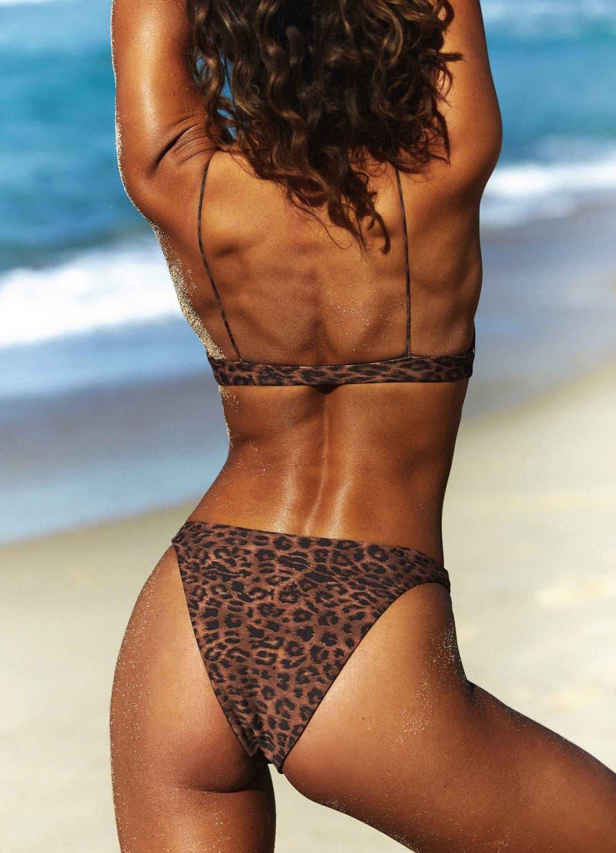 High Waisted Leopard Bikini