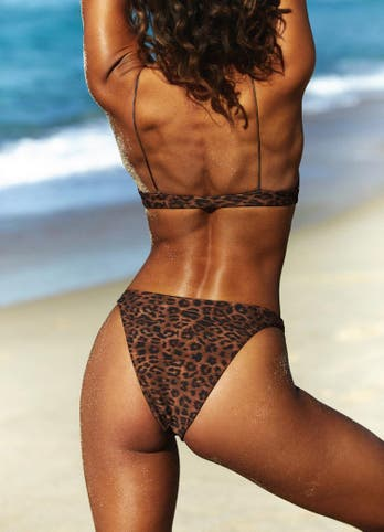 High Waisted Leopard Bikini