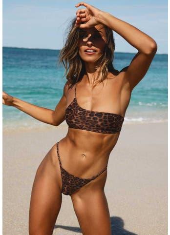leopard print bikini set