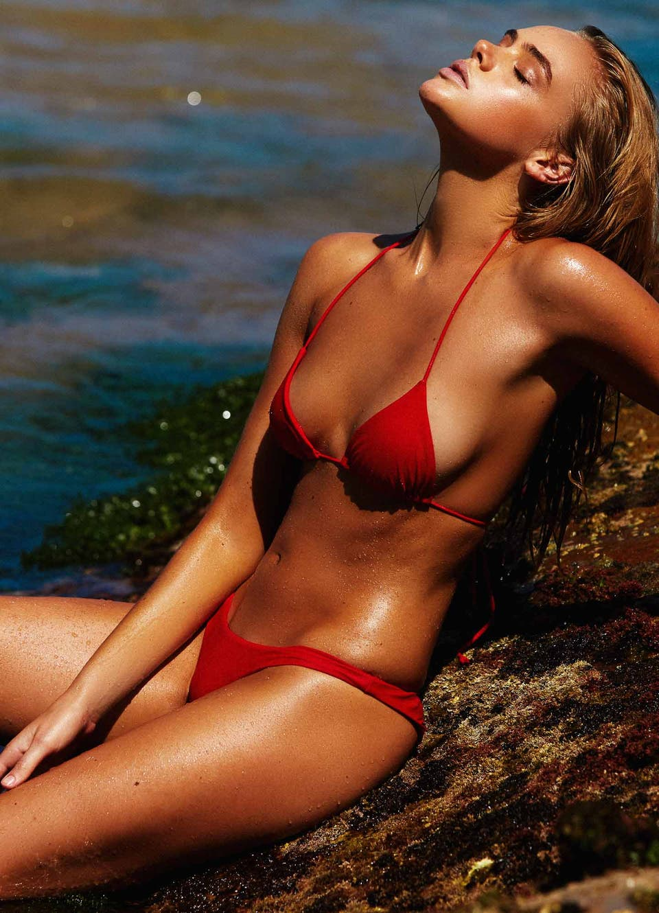 Red Triangle Bikini Swimwear