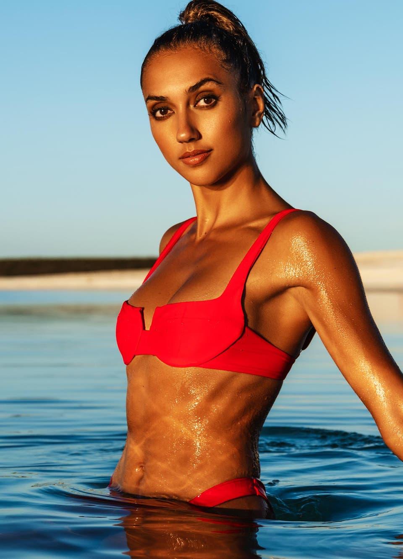 underwire bikini red