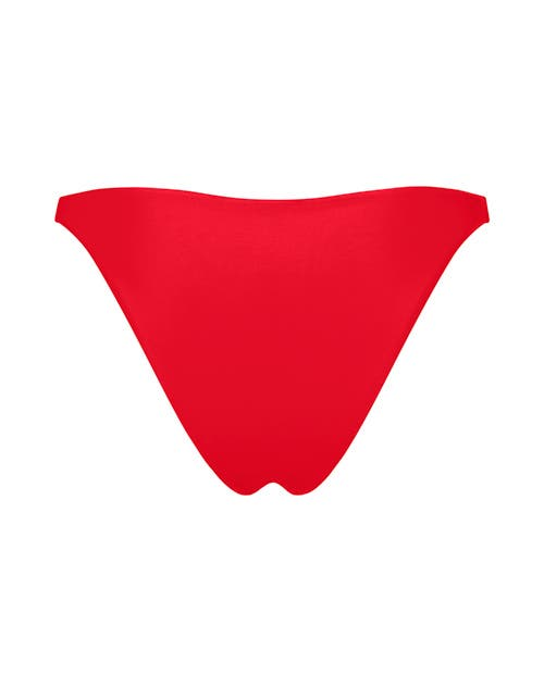 Red High Cut Bikini