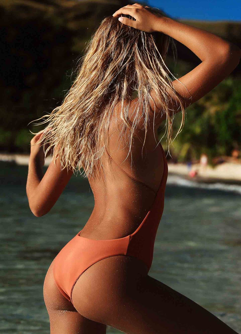 Rust Full One Piece Swimsuit