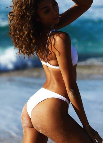 White High Waisted Bikini