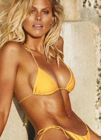 Yellow String Tie Side Bikini Bottoms