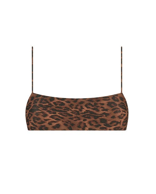 minimal leopard bikini