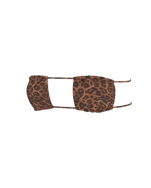 bandeau bikini top with straps