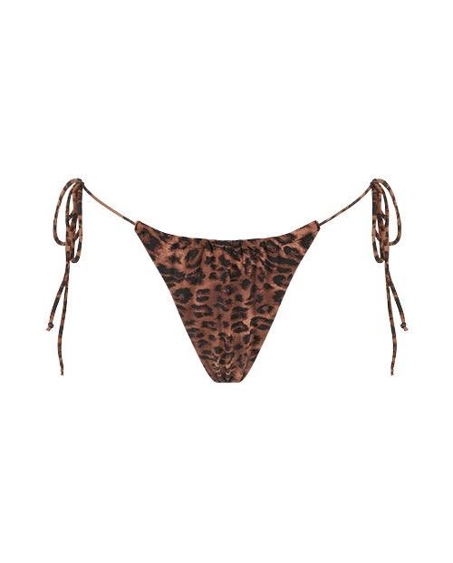 ruched high waisted bikini bottoms
