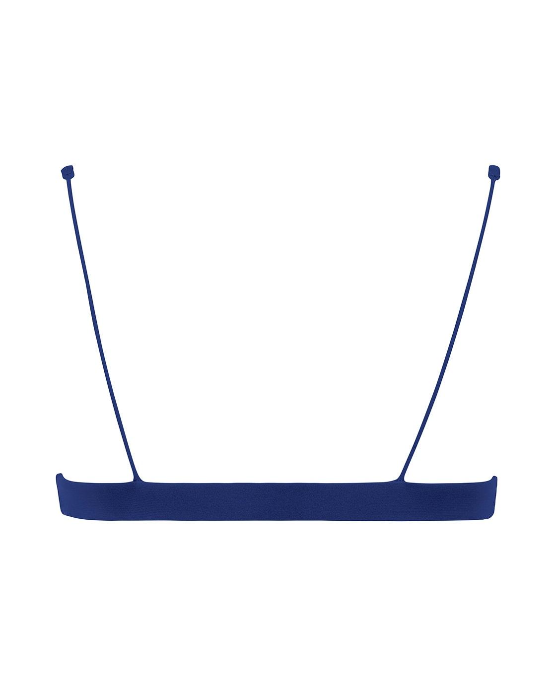 Navy Blue Bikini Top Back