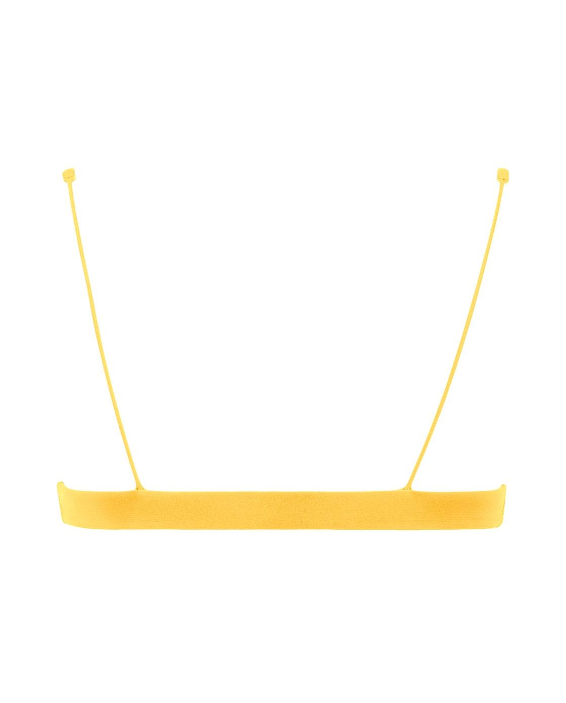 Yellow Scoop Bikini Back view