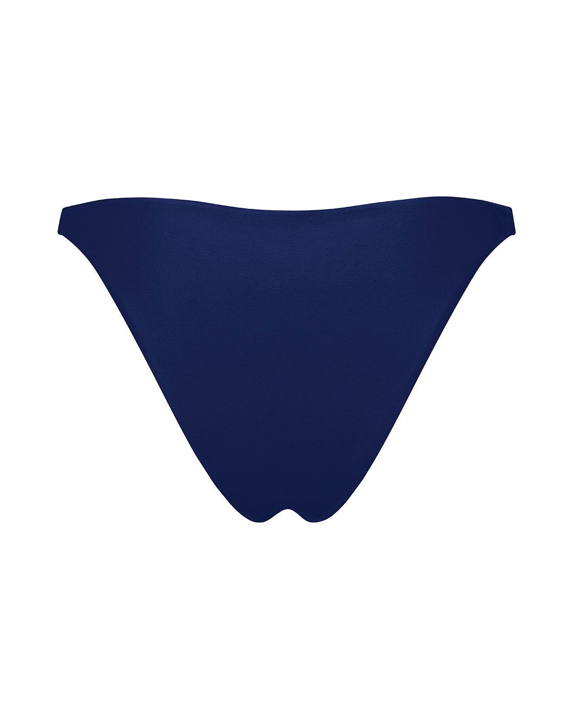 Navy Blue High Waist Bikini Bottoms