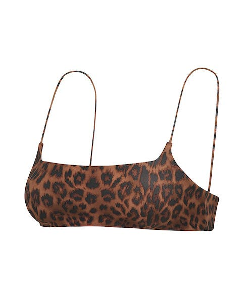 Leopard Print Bikini Crop