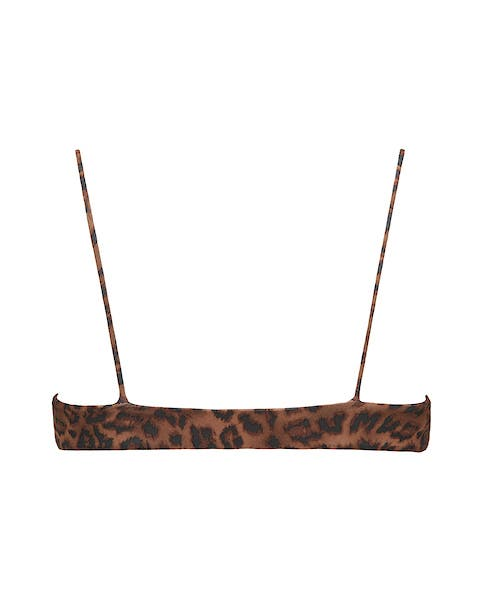 Leopard Print Bikini Crop Top