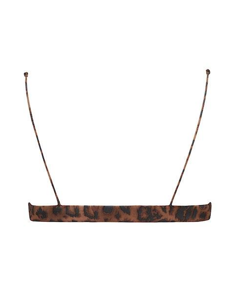 Leopard Print Scoop Bikini Top Back