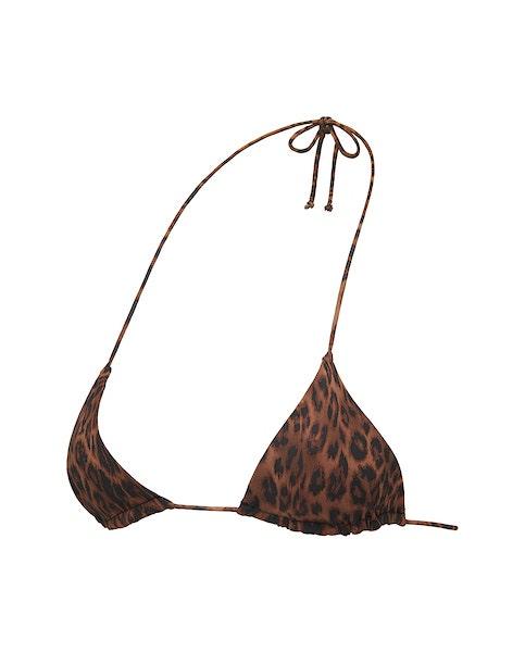 Leopard Print Triangle Bikini